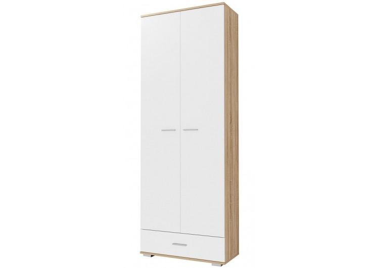 Шкаф двухстворчатый с ящиком ШК1Я-800 Италия глянец