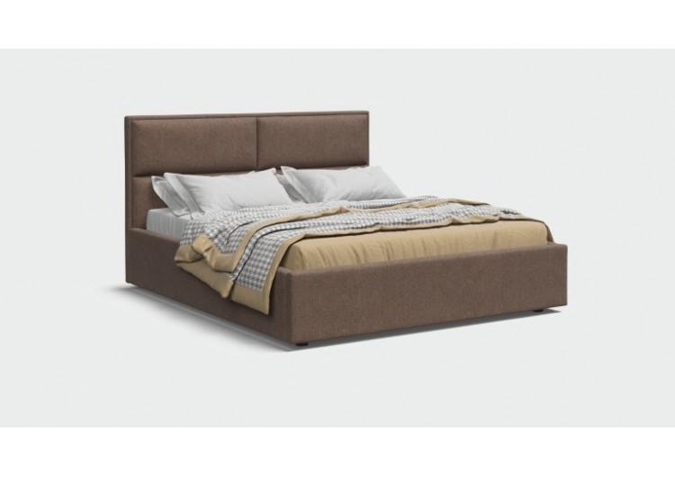 Кровать MILA шенилл Soro браун + ПМ 160*200