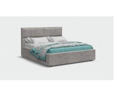 Кровать MILA шенилл Soro грей + ПМ 160*200