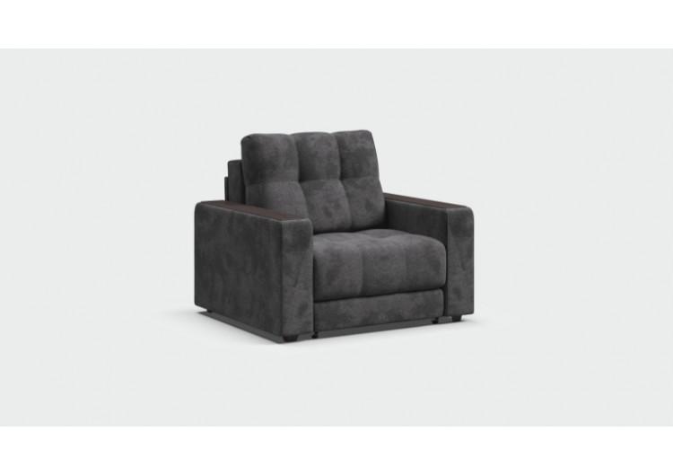 Кресло-кровать BOSS велюр Alkantara серый