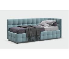Кровать BOSS mini велюр Monolit аква + ПМ 90*200