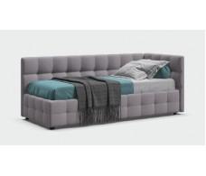 Кровать BOSS mini шенилл Soro грей + ПМ 90*200