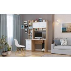 Письменно-компьютерный стол ПКС-5 Дуб Сонома/Белый глянец