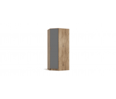 Угловой шкаф РИМ крафт табачный, серый графит
