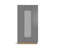 Шкаф РИМ-120 крафт табачный, серый графит