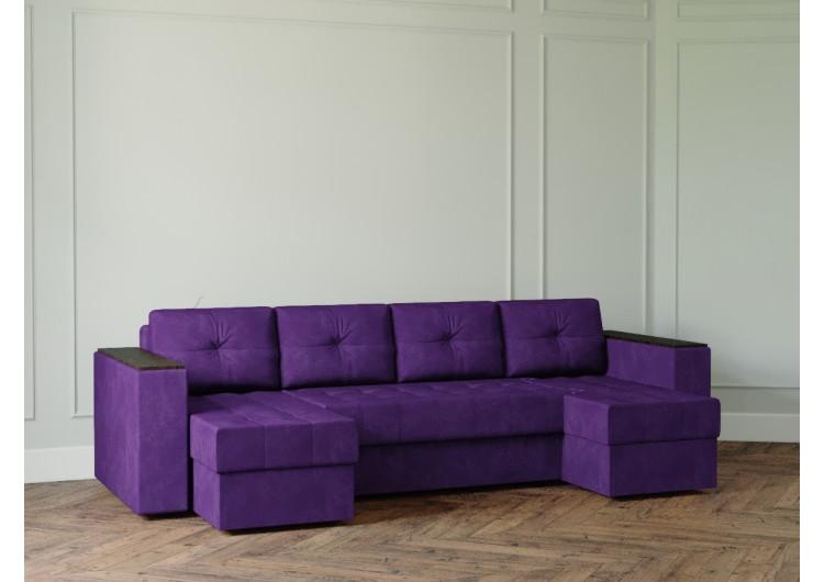 П-образный диван Craftmebel Ванкувер лайт с декором