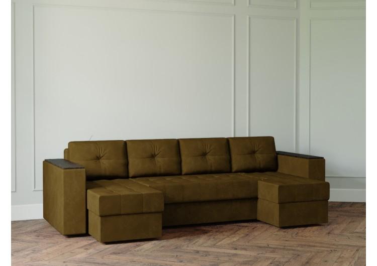 П-образный диван Ванкувер лайт с декором