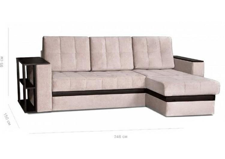 Угловой диван Rivalli Атланта со столом и накладкой