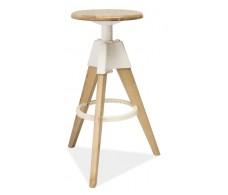 Барный стул Signal BODO дуб беленый\белый