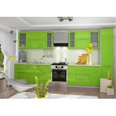 Кухня ДСВ Мебель Вариант фасада Олива-2 Зелёный металлик