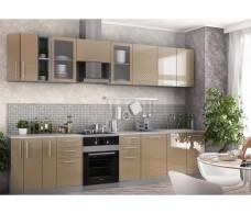 Кухня ДСВ Мебель Вариант фасада Капля Кофе с молоком глянец