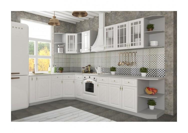 """Кухня Вариант фасада """"Гранд"""" Белый"""