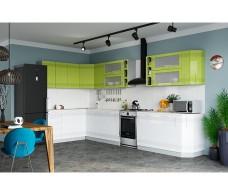 Кухня Интерьер-центр Вариант фасада Мокко Лайм глянец/ Белый глянец