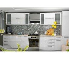 Кухня ДСВ Мебель Вариант фасада Олива-2 Белый металлик