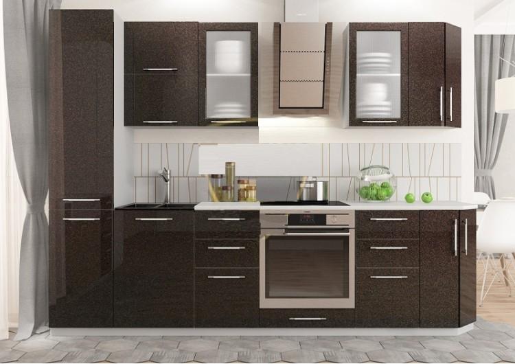 Кухня ДСВ Мебель Вариант фасада Олива-2 Хамелеон металлик
