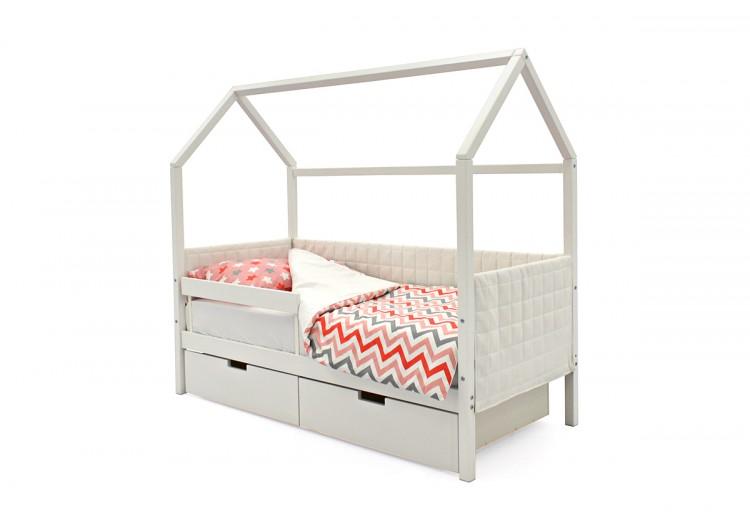 Детская кровать-домик мягкий Svogen белый