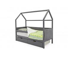Детская кровать-домик мягкий  Svogen графит