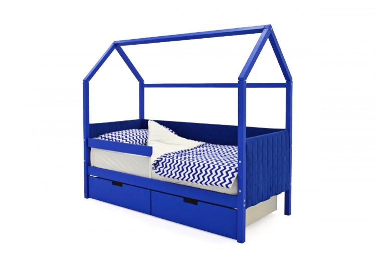 Детская кровать-домик мягкий Svogen синий