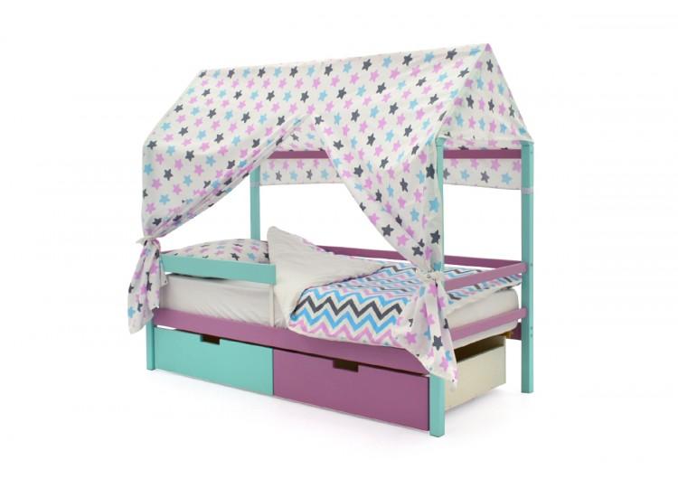 Детская кровать-домик Бельмарко Svogen мятный-лаванда