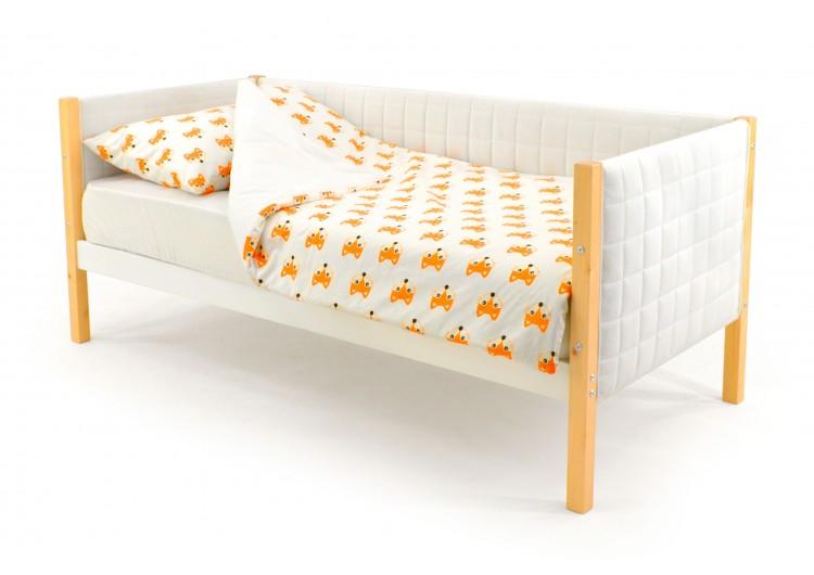 Детская кровать-тахта мягкая Svogen дерево-белый