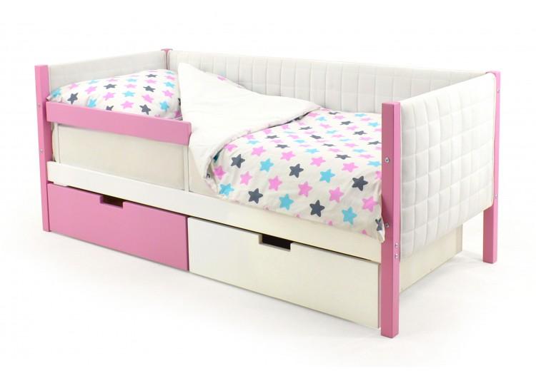 Детская кровать-тахта мягкая  Svogen лаванда-белый