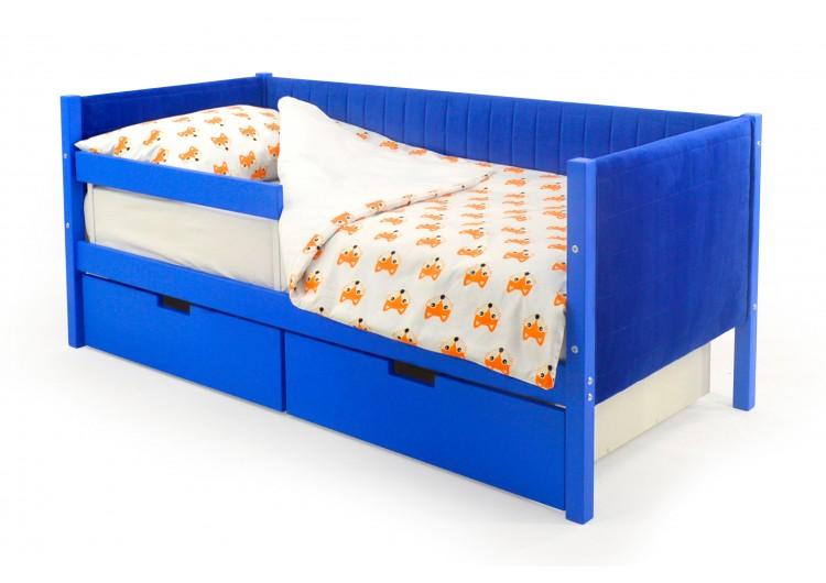 Детская кровать-тахта мягкая Svogen синий