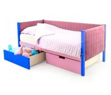 Детская кровать-тахта мягкая Svogen синий-лаванда