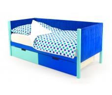 Детская кровать-тахта мягкая  Svogen мятно-синий
