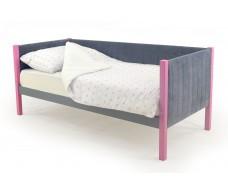Детская кровать-тахта мягкая Svogen лаванда-графит