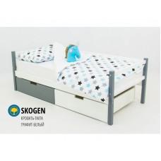 Детская кровать-тахта Svogen графит-белый