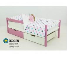 Детская кровать-тахта Svogen лаванда белый