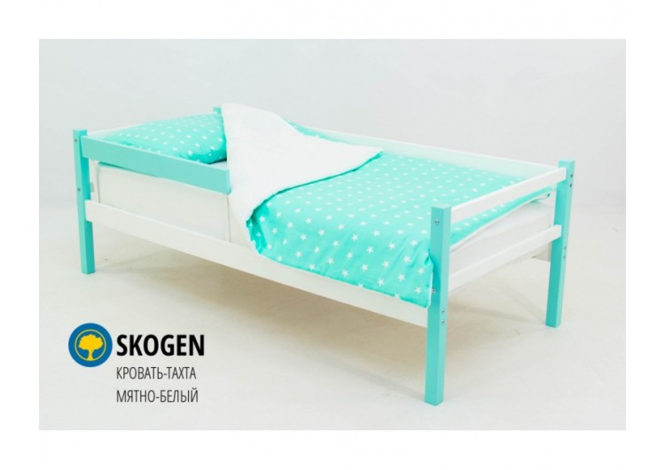 Детская кровать-тахта Svogen мятно-белый
