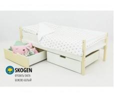 Детская кровать-тахта Svogen бежево-белый