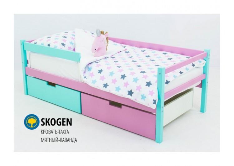 Детская кровать-тахта Svogen мятный-лаванда