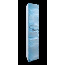 Пенал Visbaden 30П 2д. 1в.я. Blue marble L