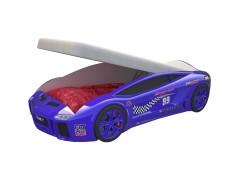 Детская кровать машина Ламба Next Синяя 2 с подъемным механизмом
