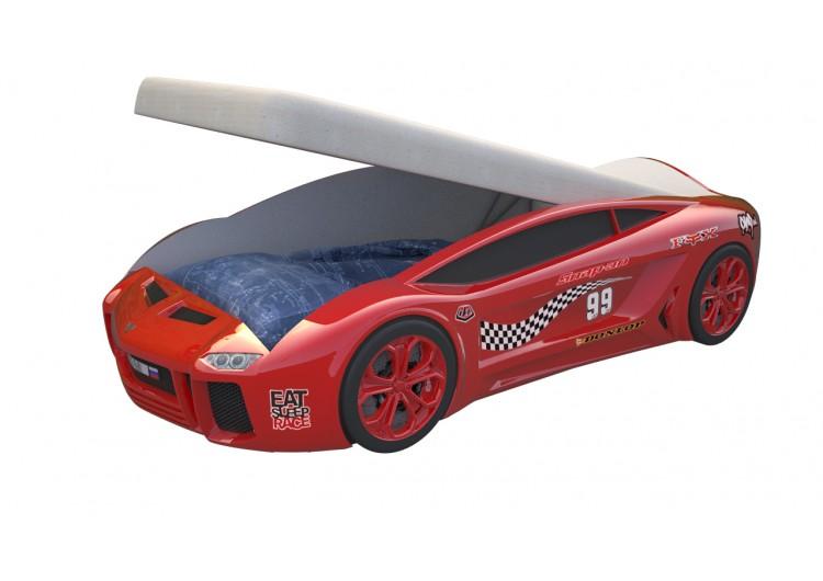 Детская кровать машина Ламба Next Красная 2 с подъемным механизмом