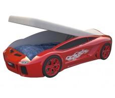 Детская кровать машина Ламба Next Красная с подъемным механизмом