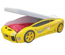 Детская кровать машина Ламба Next Желтая 2 с подъемным механизмом