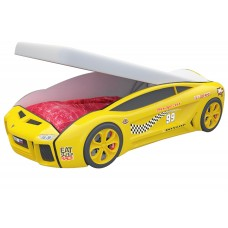 """Детская кровать """"Ламба Next Желтая 2 с подъемным механизмом"""""""