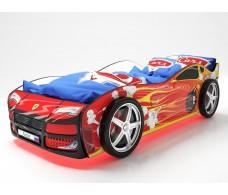 Детская кровать машина Турбо Красная 2