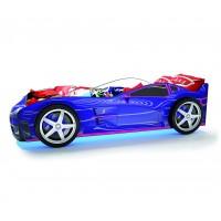 Детская кровать машина Турбо Синяя