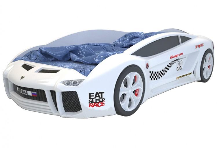 Детская кровать машина Ламба Next Белая 2