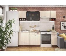 Кухня Интерьер-центр Зара ясень темный/ясень светлый 2,1м
