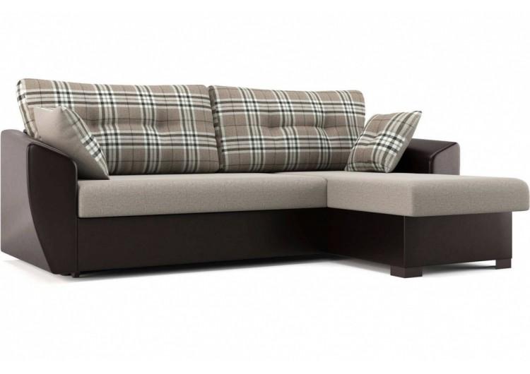 Угловой диван Амстердам бежево-коричневый