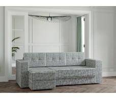 Угловой диван Ванкувер Модерн серая рогожка/темно-серая рогожка
