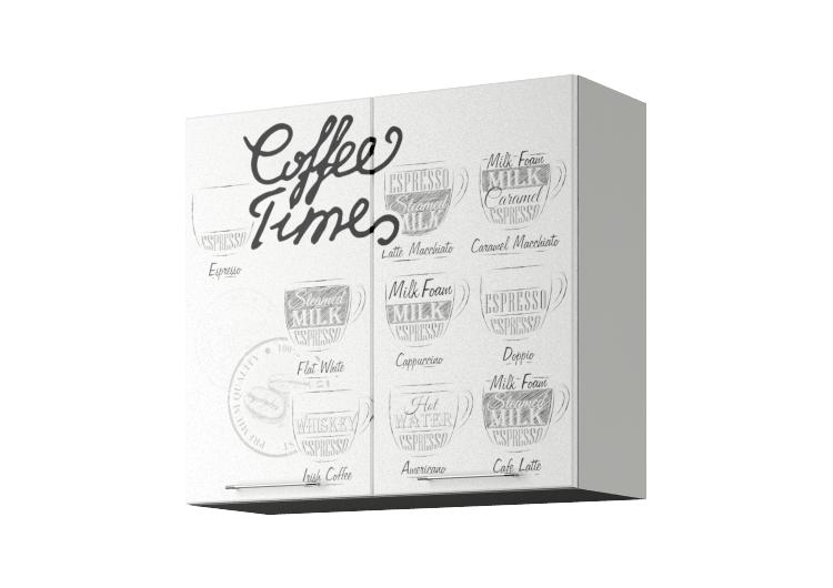 Шкаф ШВ800 с нанесением фотопечати «Coffee time»