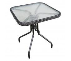 C015 Стол CAFЕ4 (сталь, с оплетением) 60 × 60 × 70