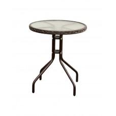 C006 Стол CAFÉ (сталь, с оплетением) D60 × 70