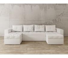 П-образный диван Craftmebel Константин экокожа белая